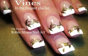 Nail Art - Gold Nails! Elegant Vine Nail Design Tutorial - YouTube