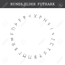 Set Of Ancient Old Norse Runes Elder Futhark Vector 24 Germanic