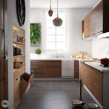 Yellow And Brown Kitchen Kitchen Brown Wooden Floor Chrome Fridge Yellow And Green