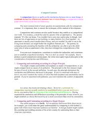 Example Of A Comparison And Contrast Essay Compare Contrast