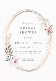 Free Bridal Shower Invite Templates Whimsical Wreath Bridal Shower Invitation Template Free