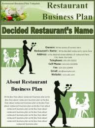 Restaurant Business Plan Template   Free Business Template