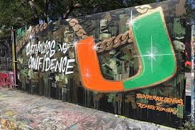a miami hurricanes turnover chain mural in wynwood ahead of a huge matchup with notre dame via instagram illsurge