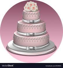 A Stylish Wedding Cake Royalty Free Vector Image