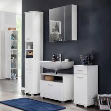 Weiße Badezimmermöbel Caluzia Made In Germany Mit Spiegelschrank