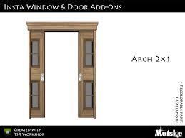 insta door double arch with sliding