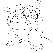 Cool Idea Pokemon Coloring Pages Blastoise Colouring Pages In ...