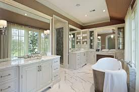 beautiful master bathrooms. White Cabinets With Shining Marble Utilized On Floor Makes It More Bright And Clean. Beautiful Master Bathrooms