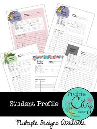 Student Profile Template For Teachers Student Profile Template By Prairie City Teacher Tpt