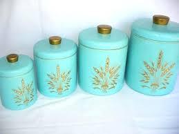 aqua kitchen canisters unique kitchen canisters vintage metal kitchen rhinestone design retro aqua aqua kitchen containers
