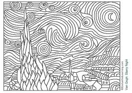 Small Picture Free Printable Famous Art Coloring Pages for Kids