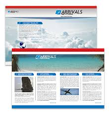 Travel Business Newsletter Microsoft Word Template