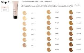 Mary Kay Matte Wear Foundation Color Chart Il Me Faut Ce