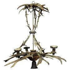 classy antique black forest antler chandelier for