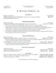 Resume For On Campus Job