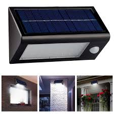 Shop Utilitech Pro 180Degree 2Head Black Solar Powered Solar Powered Outdoor Security Light Motion Detection