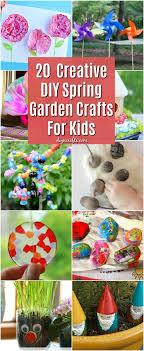 garden crafts. 20 Fun And Creative DIY Spring Garden Crafts For Kids
