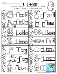 The children will have to say the name of the picture and pick the beginning blending sound.e. L Blends And Tons Of Other Great Printables Blends Worksheets Phonics Kindergarten Kindergarten Phonics Worksheets