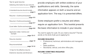 How To Write Your First Resume With No Experience Resume Template