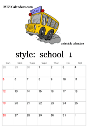 Free Printable School Calendar Free Printable School Calendars Monthly Calendars Or Full Year