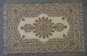 silk hand hooked rug 4 x 6