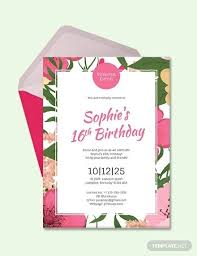 Cool 16th Birthday Party Invitation Templates Pictures