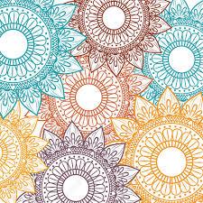 Bohemian Pattern Interesting Bohemian Mandala Background Ethnic Floral Vintage Decorative