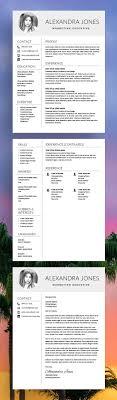 180 Best Modern Resume Templates Images On Pinterest Best Cv
