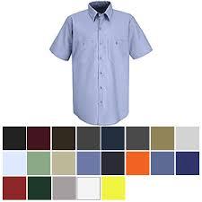 Red Kap Sp24 Mens Industrial Work Shirt Short Sleeve