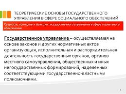 дипломная презентация по социальной работе  социального обеспечения КЛАССИФИКАЦИЯ 4 ТЕОРЕТИЧЕСКИЕ ОСНОВЫ ГОСУДАРСТВЕННОГО УПРАВЛЕНИЯ