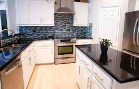 fabulous kitchen ideas black granite with room backsplash for countertops and oak cabinets