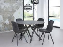 JULIAN runder Esstisch Esszimmertisch Tisch ˜ 120 cm Beton Dekor