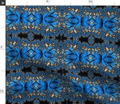 Fabric By The Yard Peacock Ore French Blue