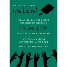 Senior Party Invitations Hats Off To The Graduation Green Black Graduation Invitations By Noteworthy Collections Invitation Box