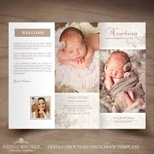baby pamphlets newborn photography trifold brochure template client welcome guide
