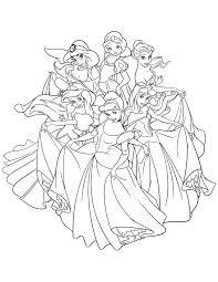 Coloriage De Disney Princesse Imprimer Coloring Books And