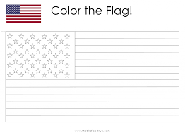 Small Picture American Flag Coloring Activity for Kids