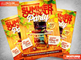 Summer Cookout Flyer Template Psd By Industrykidz On Dribbble