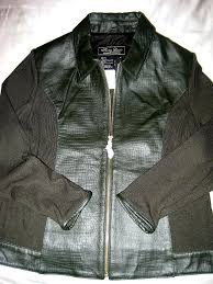 terry lewis slate marble green alligator pattern leather wool jacket
