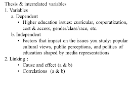 how to write a good essay ppt  3 thesis interrelated variables