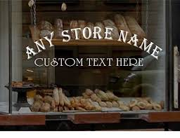 Amazoncom Stickerloaf Brand Arched Store Name Window Decal