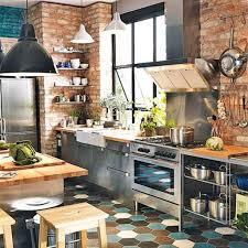 Bright Industrial Kitchen Decor. Kitchen: Cozy Industrial Kitchen Style -  Industrial Kitchen