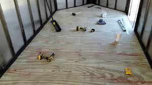 enclosed trailer flooring ideas