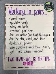 School Chart Work Ideas Making Partner Work Perfect Classroom 3rd Grade