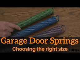 How To Choose The Right Replacement Garage Door Spring Youtube