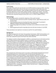Internal Audit Report Highway Condition Reporting Txdot