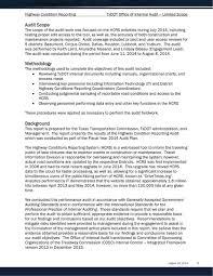 Txdot Organizational Chart Internal Audit Report Highway Condition Reporting Txdot