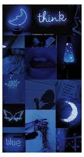 Aesthetic Collage Dark Blue #aesthetic ...