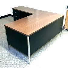 Used home office desk Ikea Triunviratoinfo Shaped Mahogany Desk Mahogany Office Desk Used Shaped Office