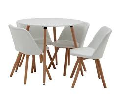 argos home quattro round table 4 chairs white